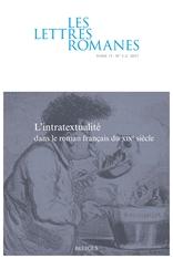 Les lettres romanes, 71.1-2 :