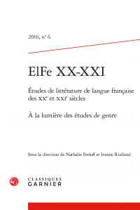 N. Froloff, I. Rialland, À la lumière des études de genre (ELFe XX-XXI, n° 6)