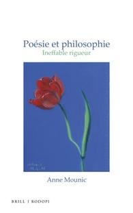 A. Mounic, Poésie et philosophie. Ineffable rigueur