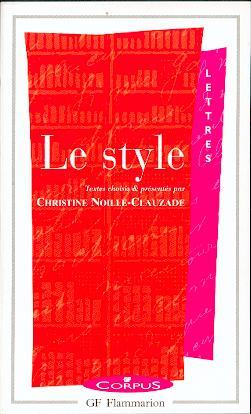 C. Noille-Clauzade, Le Style, GF-Corpus