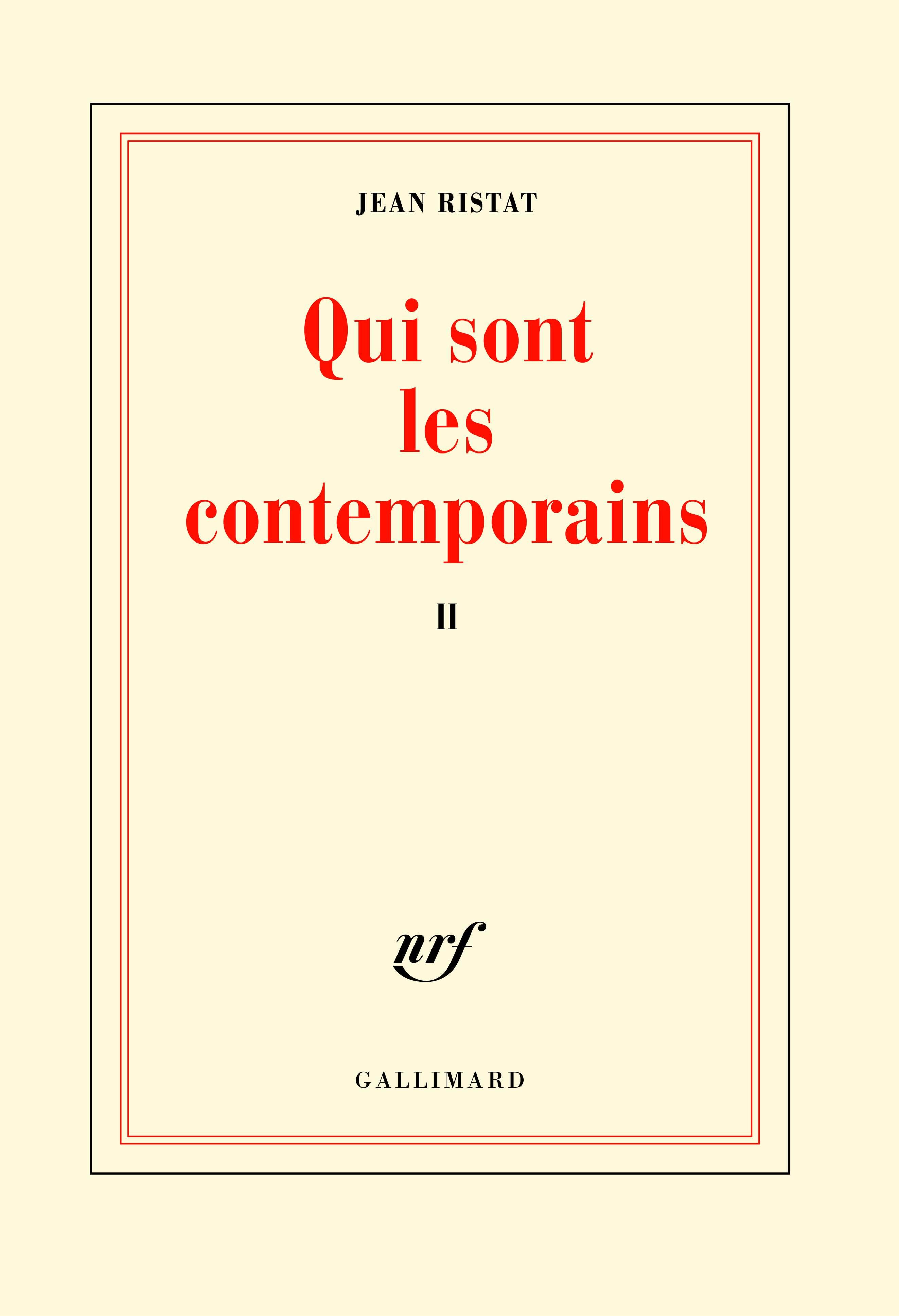 J. Ristat, Qui sont les contemporains, t. II