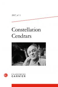 Constellation Cendrars, 2017, n° 1