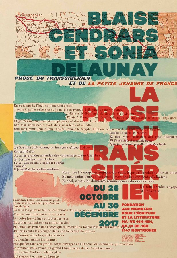 Exposition « Blaise Cendrars et Sonia Delaunay ǀ La Prose du Transsibérien » (Fondation Michalski, Montricher)