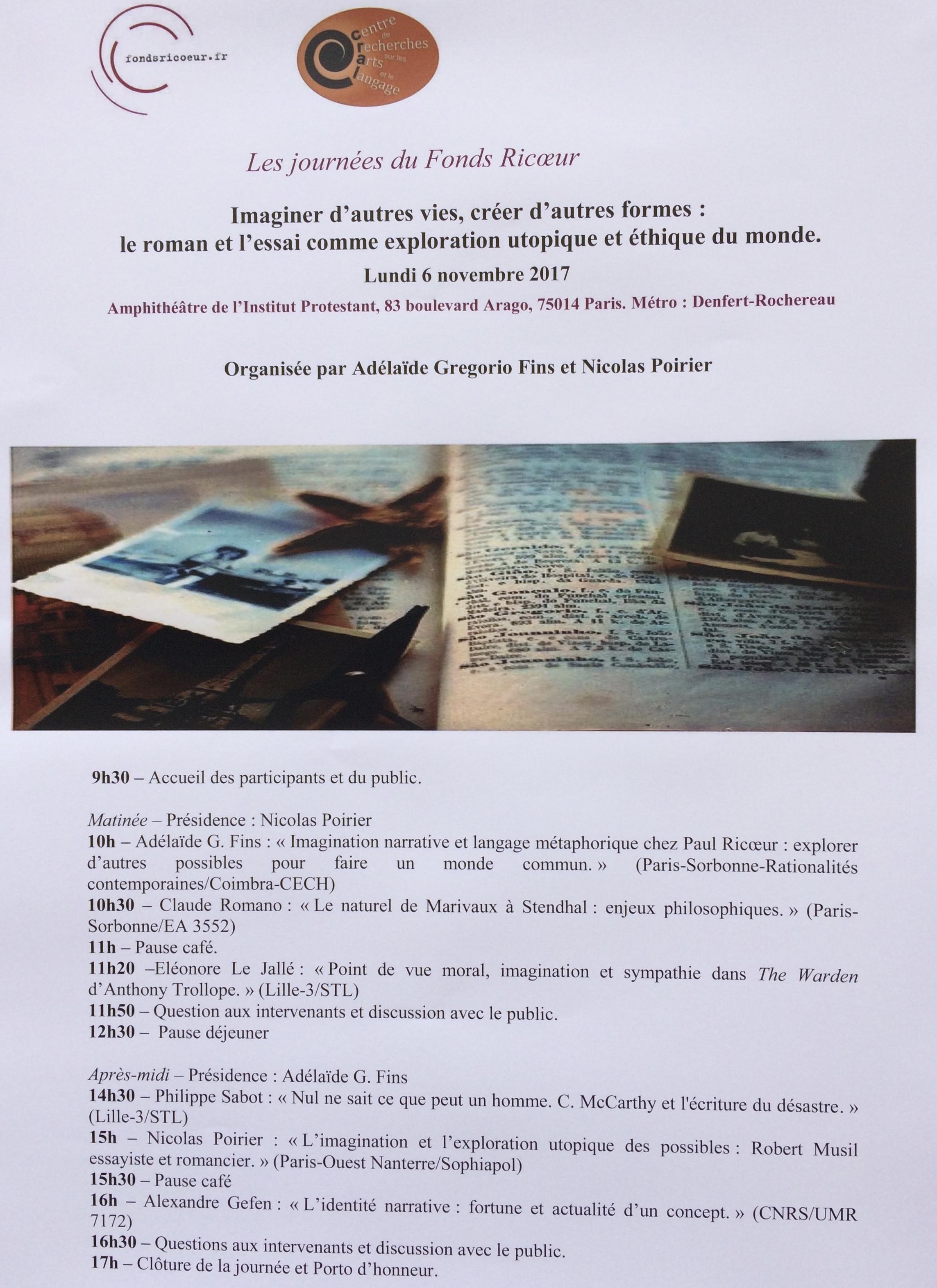 Imaginer d'autres vies, créer d'autres formes : le roman et l'essai comme exploration utopique et éthique du monde (Paris)