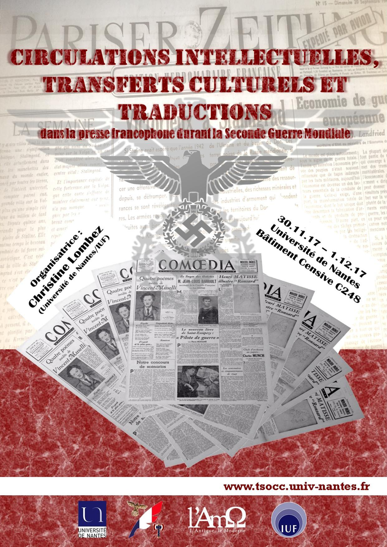 Circulations intellectuelles, transferts culturels et traductions dans l'espace francophone durant la Seconde Guerre Mondiale (Nantes)