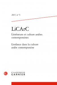 Littérature et culture arabes contemporaines, n° 5 :
