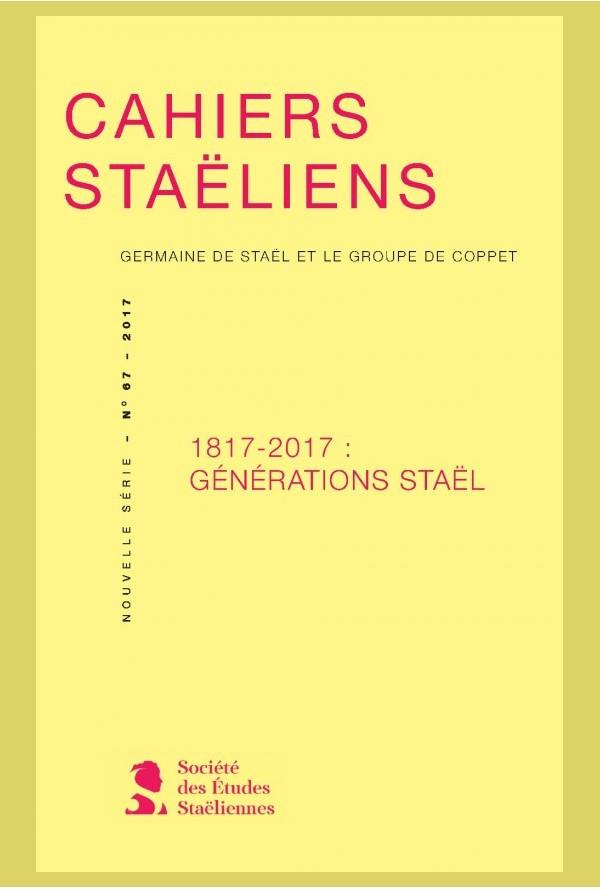 Cahiers staëliens n° 67 :