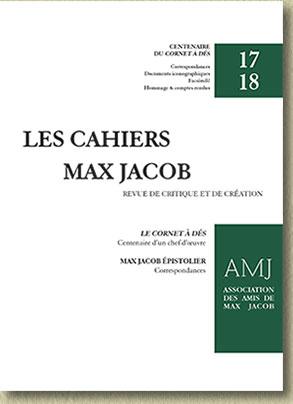 Les Cahiers Max Jacob, n° 17-18: Centenaire du Cornet à dés