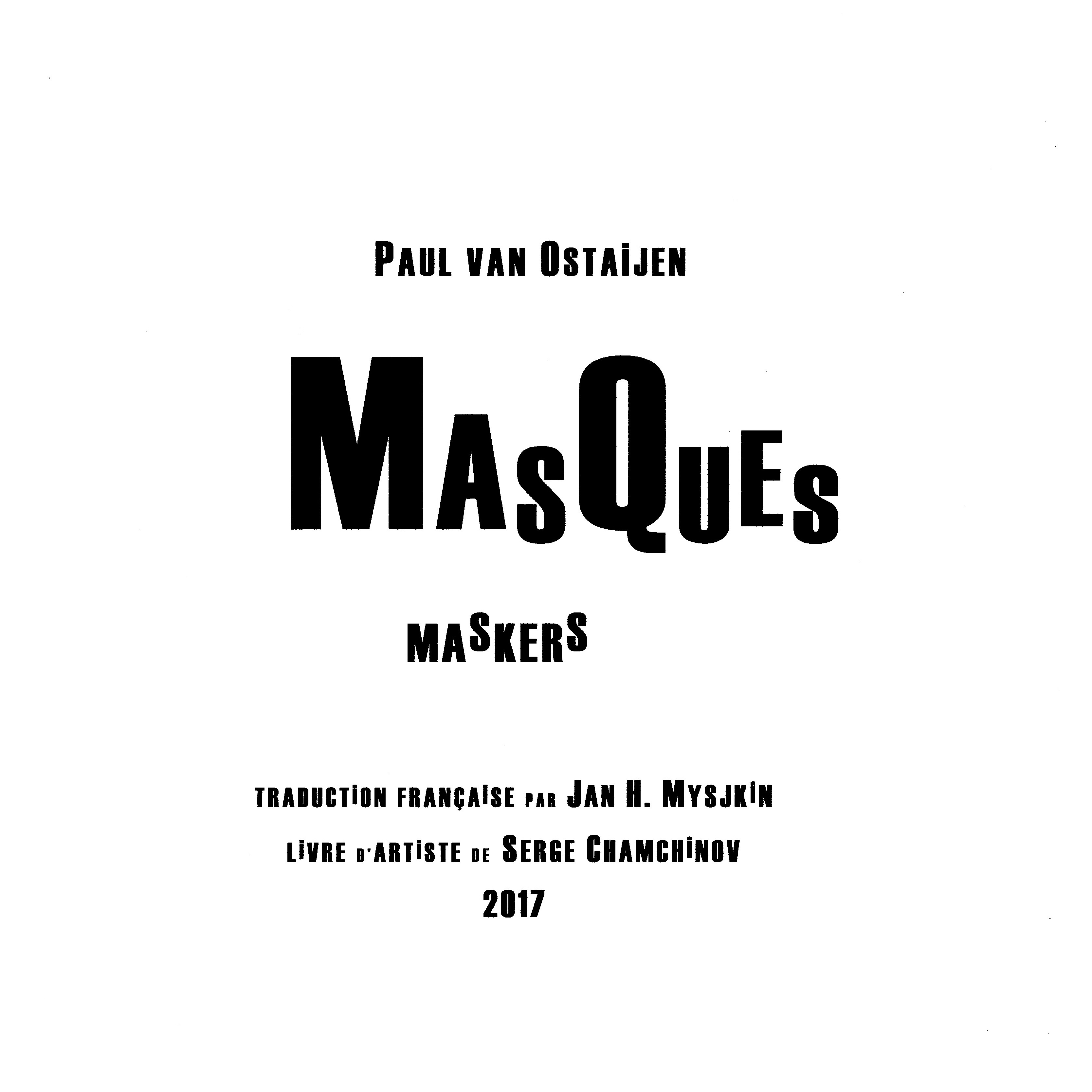 Paul van Ostaijen, Masques (Maskers, 1918-1921)
