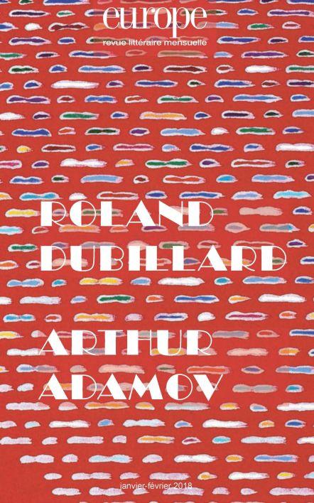 Europe, n°1065-1066 : Roland Dubillard / Arthur Adamov