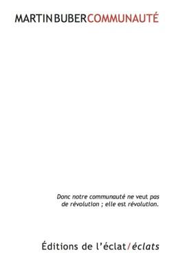 M. Buber, Communauté (nouvelle éd.)