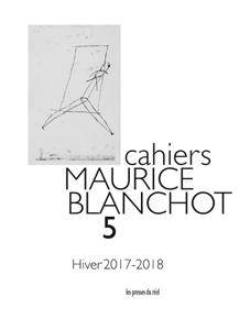 Cahiers Maurice Blanchot n°5