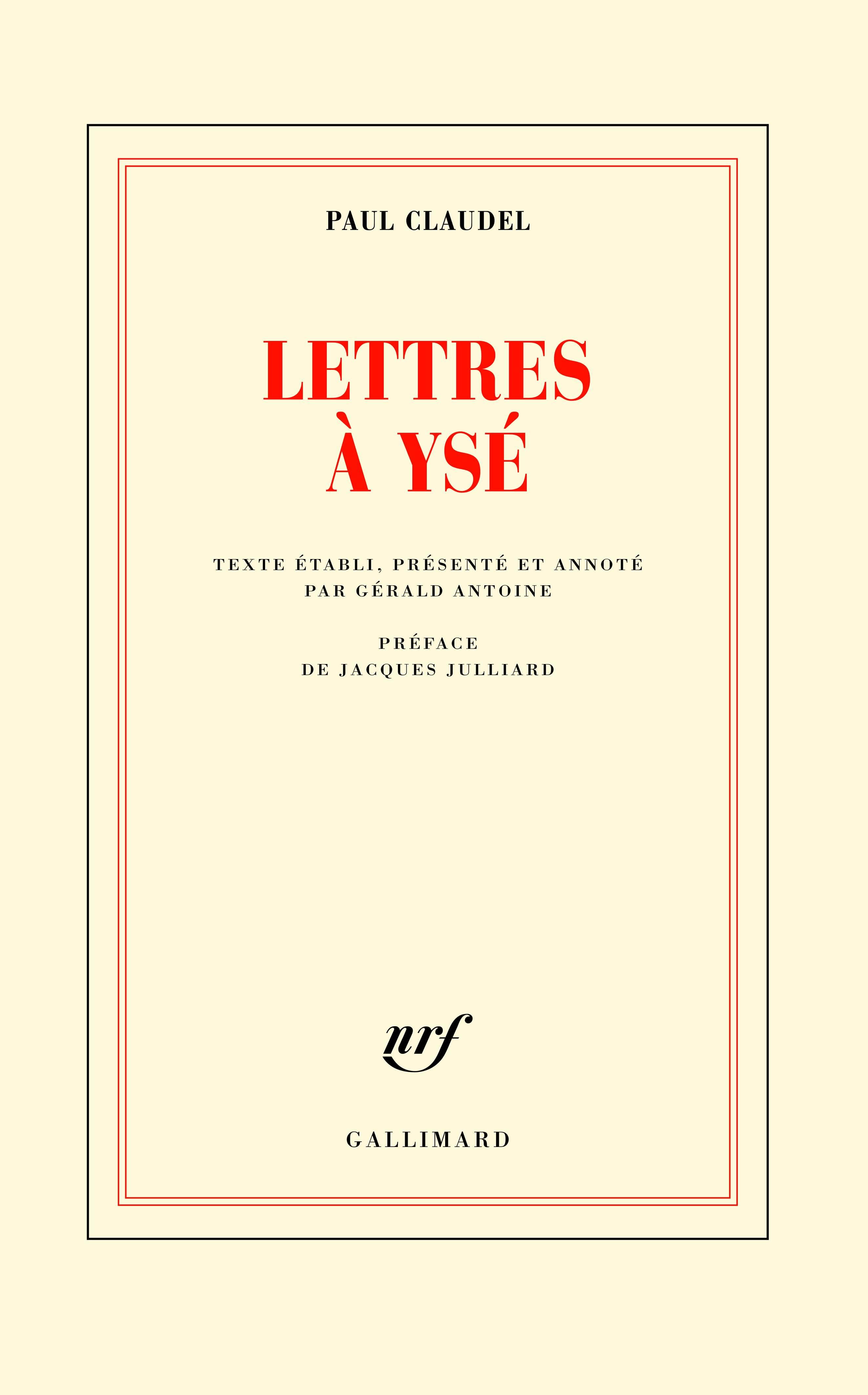 P. Claudel, Lettres à Ysé