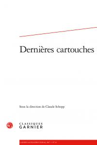 Cahiers Alexandre Dumas n° 44,  Dernières cartouches
