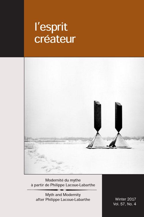 Modernité du mythe, à partir de Philippe Lacoue-Labarthe (L'esprit créateur, n° 57)