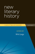 New Literary History, vol. 48, 4 (2017) : Writ Large
