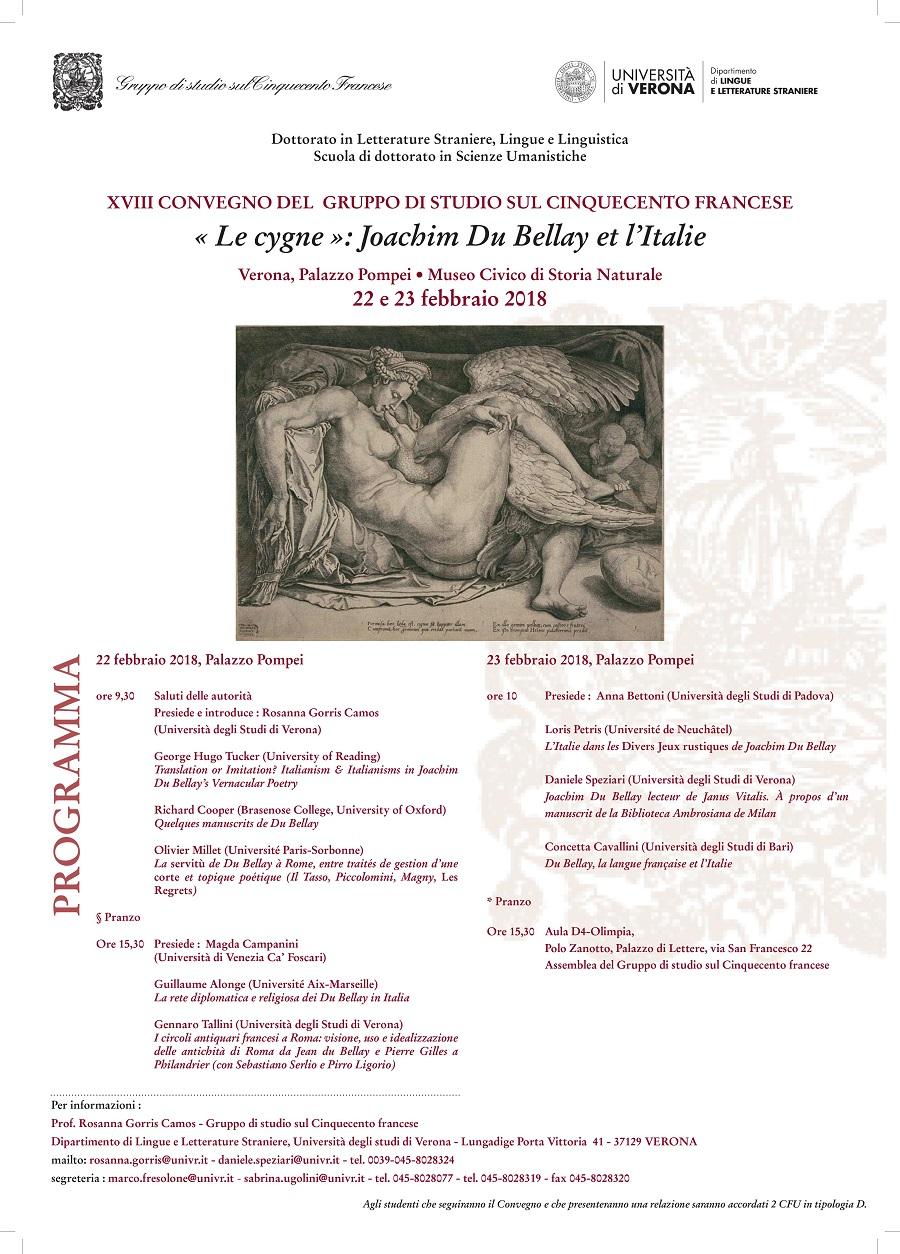 « Le cygne »: Joachim Du Bellay et l'Italie (Vérone)