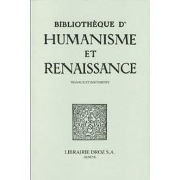 Bibliothèque d'Humanisme et Renaissance, (LXXIX-3)