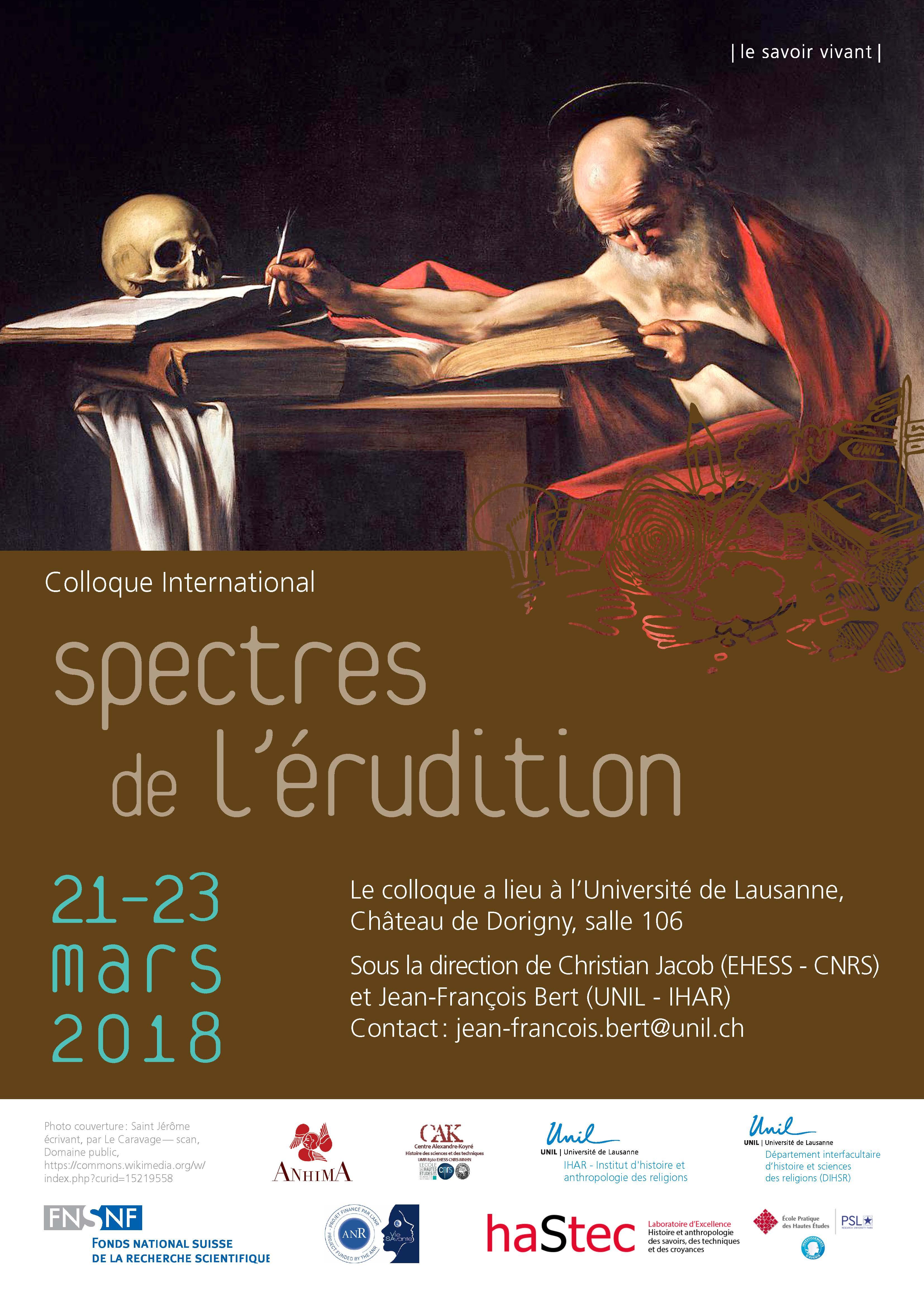 Spectres de l'érudition (Lausanne)
