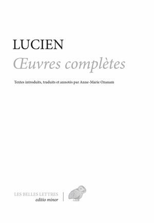 Lucien, Œuvres complètes