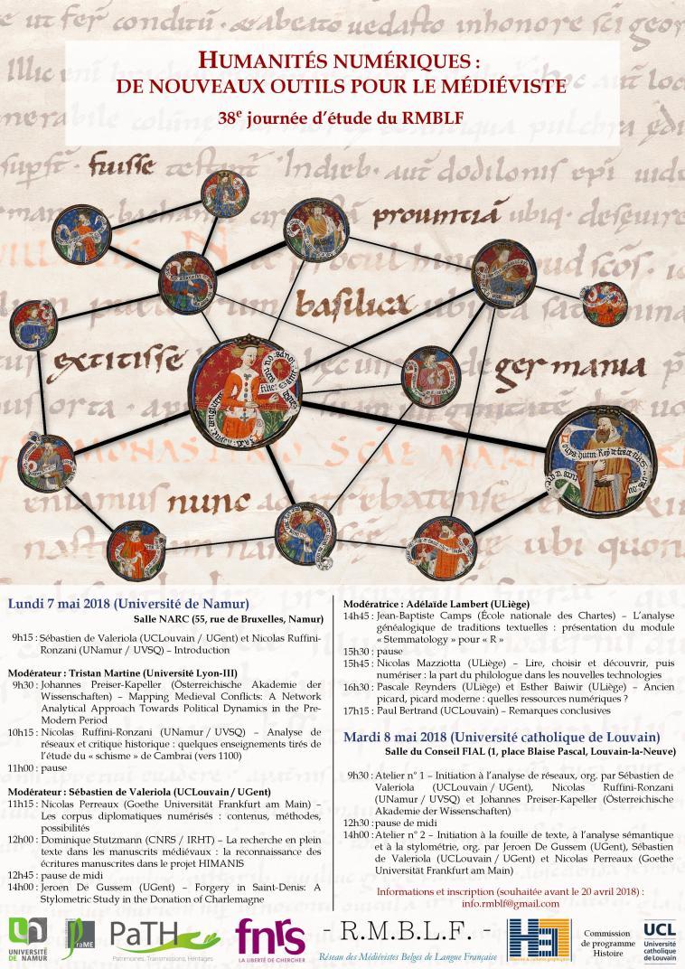 Humanités numériques: de nouveaux outils pour le médiéviste (Namur et Louvain-la-Neuve)