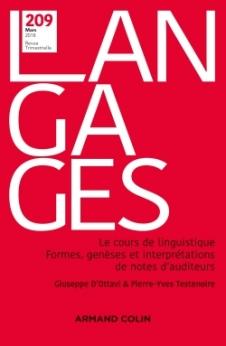 Revue Langages, n°209 (1/2018),