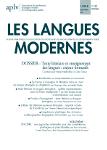 Les Langues Modernes, 2018-1 :