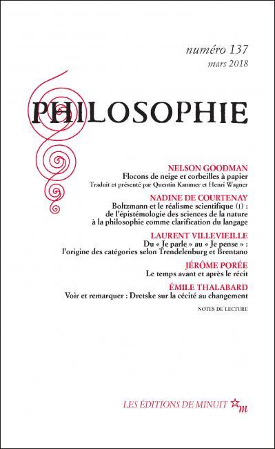 Philosophie, n° 137, avec un texte de N. Goodman sur C.I. Lewis