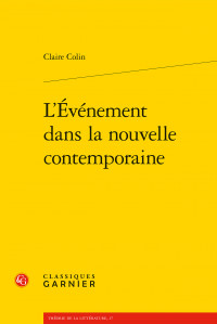 C. Colin, L'événement dans la nouvelle contemporaine