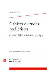 Cahiers d'études nodiéristes 2018 – 2, n° 6 :