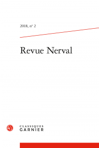 Revue Nerval 2018, n° 2