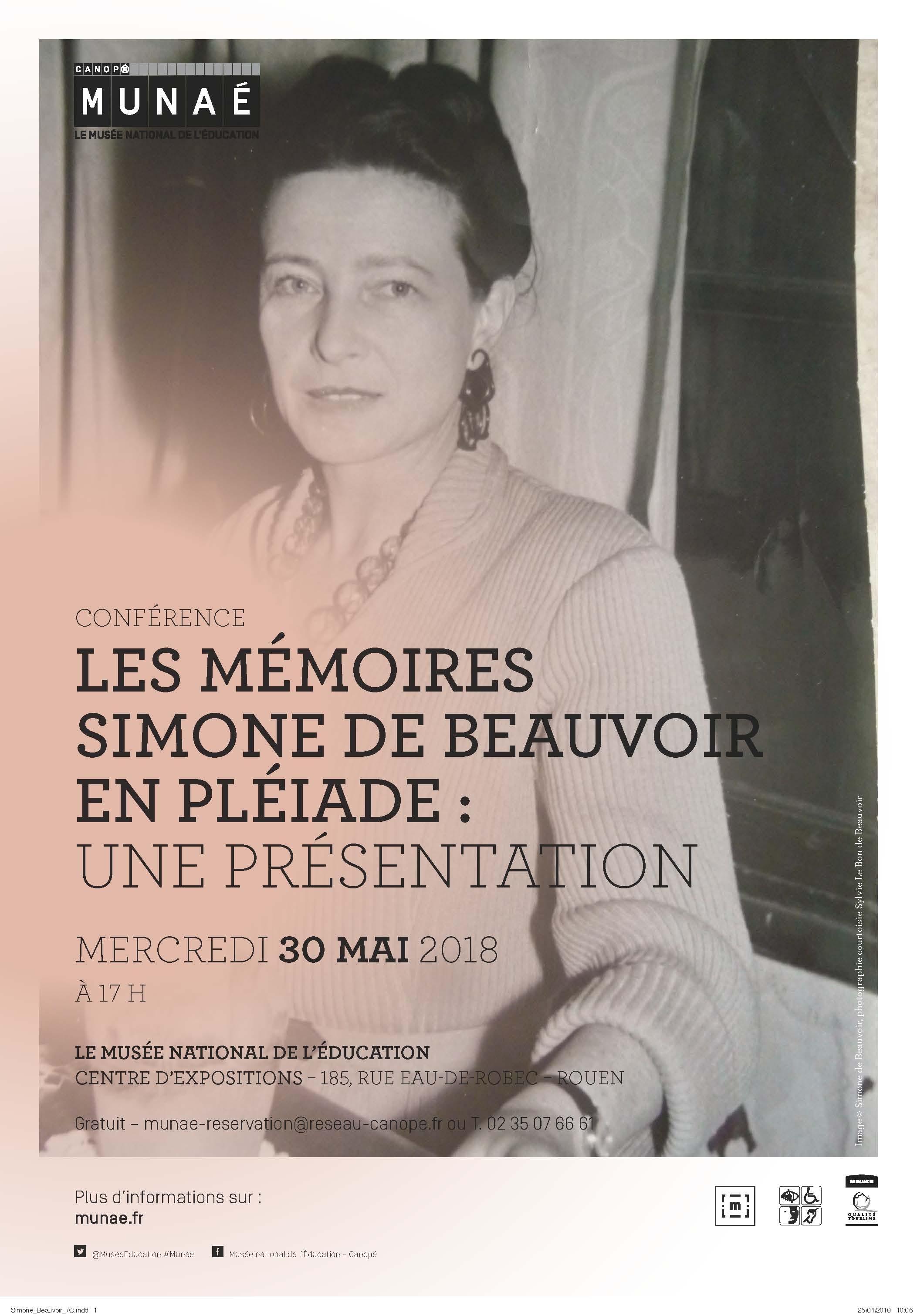 Simone de Beauvoir en ses Mémoires (Rouen)