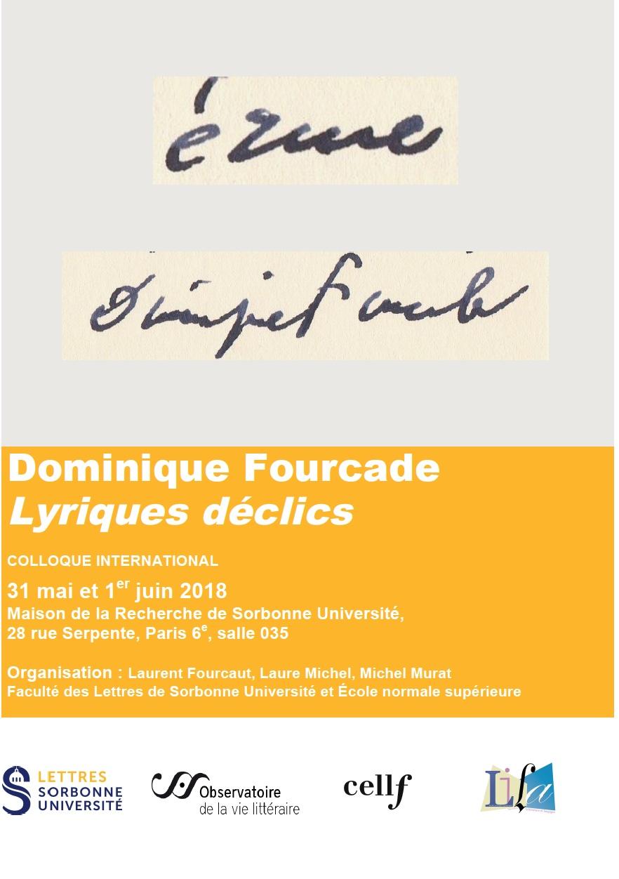 Dominique Fourcade Lyriques déclics