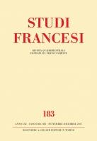 Studi Francesi, n°184 :