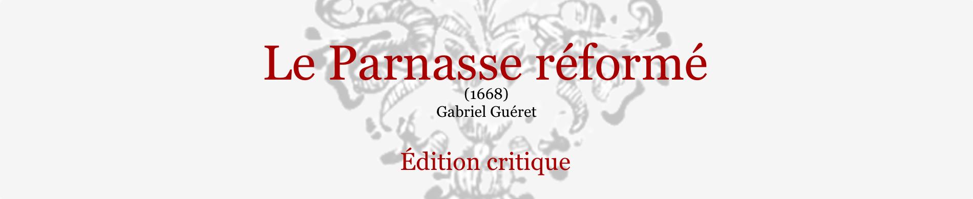 G. Guéret, <em>Le Parnasse réformé</em> (1668) en ligne
