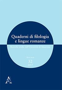 Quaderni di filologia e lingue romanze, terza serie, n° 32