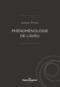 J. Porée, Phénoménologie de l'aveu