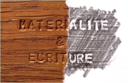 Revue Motifs n°2, « Matérialité & écriture »