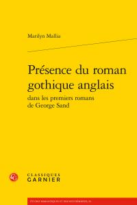 M. Mallia, Présence du roman gothique anglais dans les premiers romans de George Sand