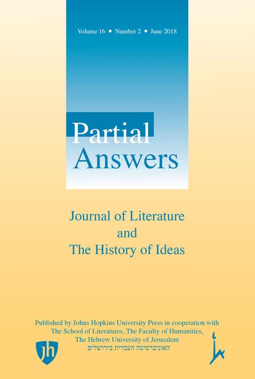Partial Answers, 16.2, Monika Fludernik's Towards a 'Natural' Narratology: Twenty Years Later (dir. J. Pier)