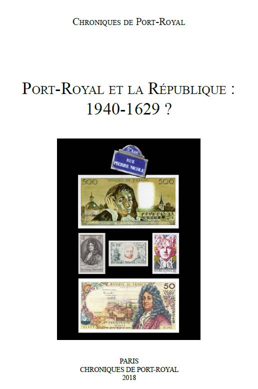 Chroniques de Port-Royal, n° 68 :