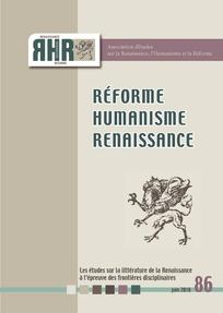 RHR. Réforme, Humanisme, Renaissance, n° 86: