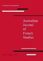 Australian Journal of French Studies, n° 55 :