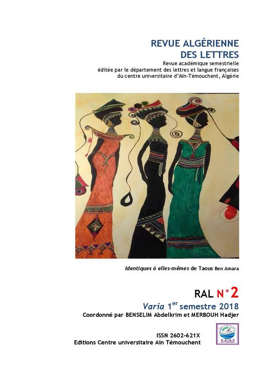 Revue algérienne des lettres RAL, n° 2, Varia