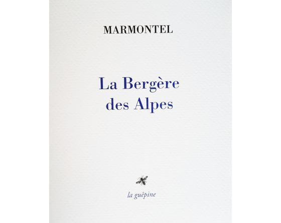 J.-F. Marmontel, La Bergère des Alpes