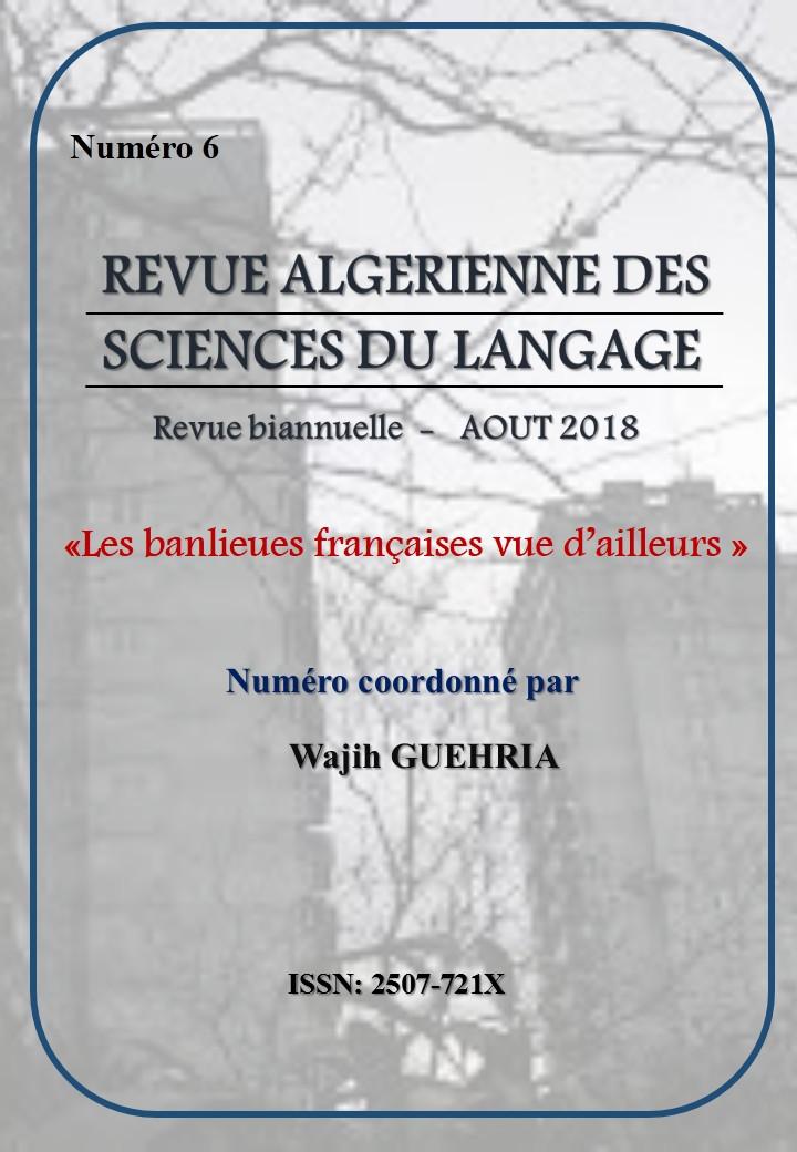 Revue Algérienne des Sciences du Langage, n° 6 :