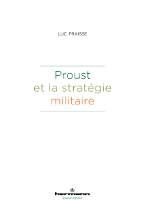 L. Fraisse, Proust et la stratégie militaire