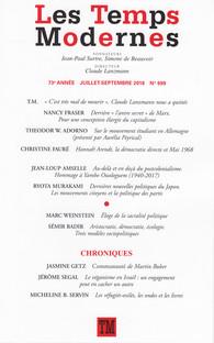 Revue Les Temps Modernes, n°699
