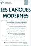 Les Langues Modernes n° 3/2018, « Grammaire ? Vous avez dit grammaire ? Représentations et pratiques enseignantes »