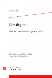 Neologica, 2018, n° 12.